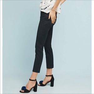 Anthropologie Black The Essential Slim Trousers
